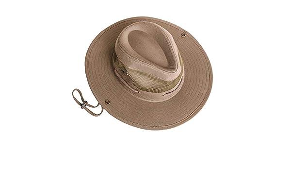 Sombrero Estilo Australiano Bushman para Hombre con ventilaci/ón de Malla Verano Ligero