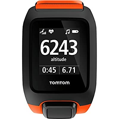 TomTom Adventurer Cardio + Music, GPS Fitness Watch + Heart Rate Monitor + 3GB Music + Bluetooth Headphones (Orange, Large)