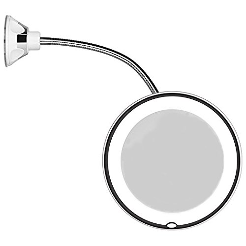 JiBen Flexible Gooseneck LED Lighted - 5 Inches Round Mirror