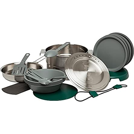 Stanley Base Camp Cook Set for 4 | 21 Pcs Nesting Cookware...