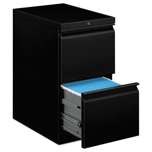 HON Brigade Mobile Pedestal | 2 File Drawers | Radius Pull | 15''W | Black Finish by HON
