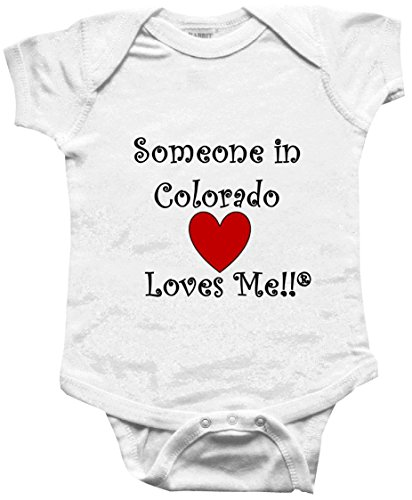 SOMEONE IN COLORADO LOVES ME - COLORADO BABY - State-series - White Baby One Piece Bodysuit - size (Pueblo Series)