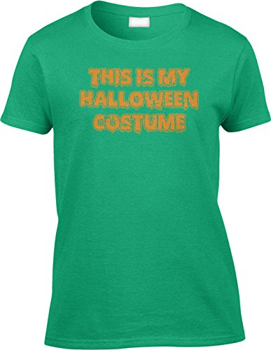Jack Teller Costume (Blittzen Womens/Ladies This Is My Halloween Costume, M, Green)