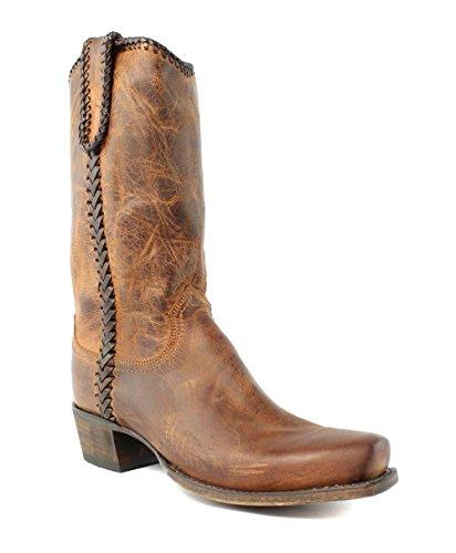 Lucchese Bootmaker Men's Clayton Western Boot, Peanut Brittle, 8.5 D (Western Peanut Brittle)
