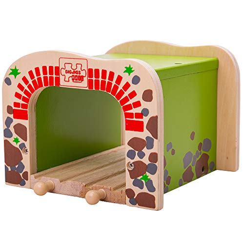 Bigjigs Rail Double Tunnel - Other Major Wooden Rail Brands are Compatible