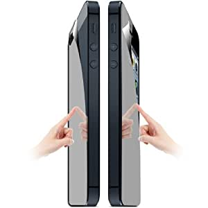 High Quality 2 in 1 (Front Screen + Back Cover) Mirror LCD Screen Protector for iPhone 5 & 5S