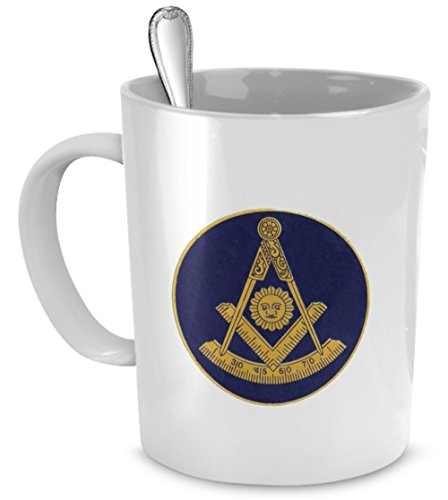 Masonic coffee mug - Freemason past master mug - Freemason gift cup (Freemason Coffee Cup compare prices)