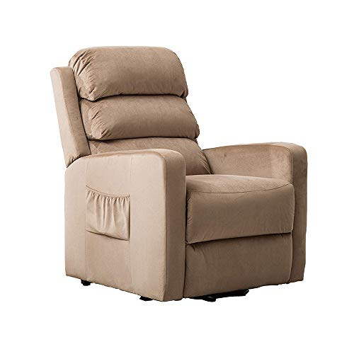 - BONZY HOME Recliner,Lift Control as Gift for Elderly Luxury Chair Comfortable and Durable Fabric for Sleeping, Reading,Watching TV in Living Room and Bedroom(Light Brown)