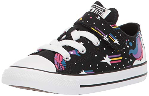 Converse For Toddler (Converse Girls' Chuck Taylor All Star 1V Unicons Sneaker, Black/Mod Pink/White, 5 M US)