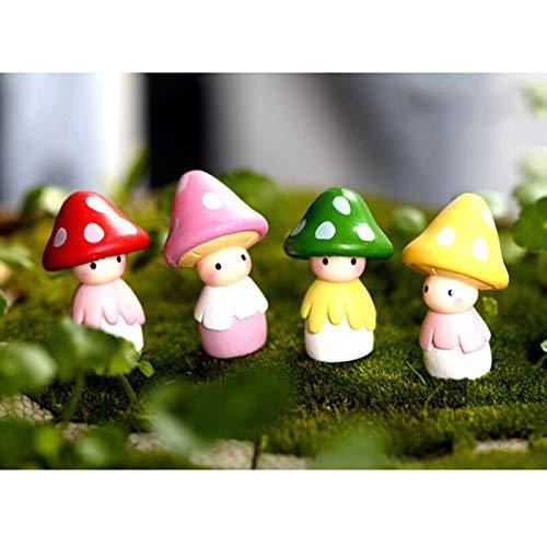 - Figurines & Miniatures - 1pc Cute Mini Resin Mushrooms Fairy Garden Bonsai Doll House Decor Toy Crafts Diy Little Wholesale - Figurines People Miniatures