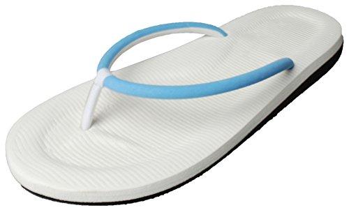 Difyou Hommes Thong Arc Plat Soutien Sandales De Plage Anti-dérapant Tongs Bleu