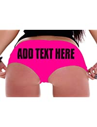   Custom Panties - Girlfriend Gifts - Create Your Own Booty Shorts ADD Your OWN Text Boyshort Panties