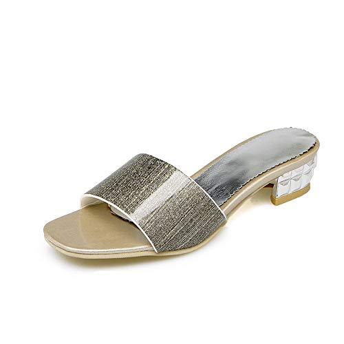 AdeeSu Womens Square Heels Chunky Chunky Chunky Heels Peep Toes Urethane Sandals SLC04410 Parent B07GJGQ1NW c36e68