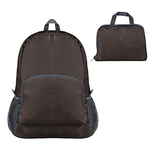 American Trends Travel Organizer Foldable Camping Backpack Packable Outdoor Storage Coffee from American Trends