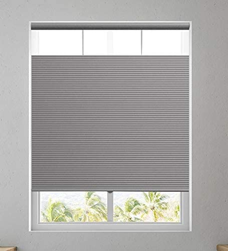 Affordable Blinds Cordless Shades Top Down Bottom Up Windows Blinds Cellular Shade, Any Size from 19 to 73 Wide and 24 to 84 Height – Silver