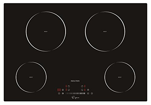 "Empava 30"" Electric Induction Cooktop Smooth Surface Black Tempered Glass EMPV-IDC30 (Cooktop Glass 30)"