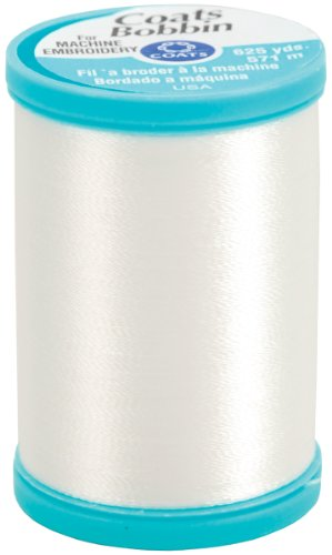 Coats & Clark S978-0100 Polyester Bobbin Thread, 625-Yard, White