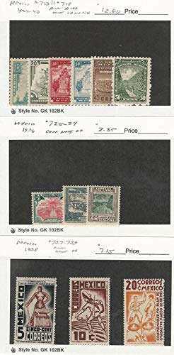 Mexico, Postage Stamp, 713//739 Mint LH, NH, Hinged, 1934-40, DKZ