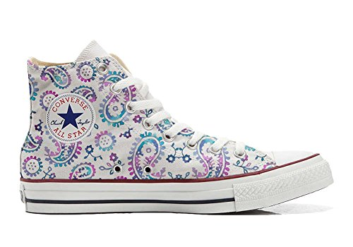 Schuhe Customized Watercolor Star All Hi Handwerk Schuhe personalisierte Converse 740wUOnqx