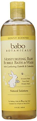 Babo Botanicals hydratant lavage & de bain moussant, 15oz - bébé naturel et biologique, peau sensible, peau sèche, eczéma