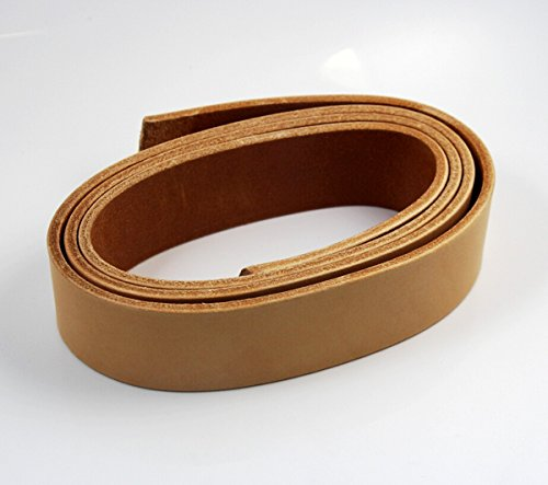 "CHENGYIDA 51"" LONG natural 4mm THICK BRIDLE / BUTT LEATHER STRAP VEG TAN,Heavyweight Italian Natural Cowhide Leather Strip"
