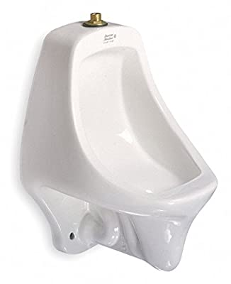 """American Standard Siphon Jet Urinal Wall Siphon Jet Urinal, 0.5 to 1.0 Gallons per Flush, 21-1/2""""H x 14-5/16""""W, White"""