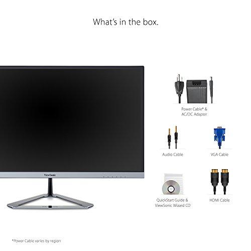 ViewSonic VX2276-SMHD 22'' IPS 1080p Frameless LED Monitor HDMI, DisplayPort by ViewSonic (Image #5)'