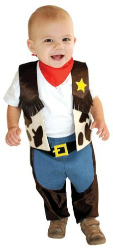 AM PM Kids! Baby's Li'L Cowboy Costume, Brown/Yellow, One Size - Toddler Lil Cowboy Costumes