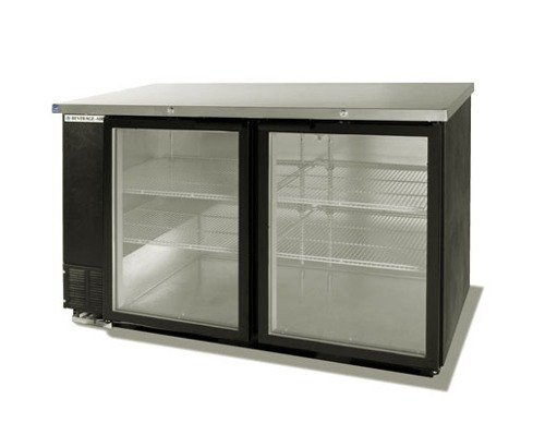 Beverage Air BB58GS-1-S Standard Depth Glass Sliding Door Back Bar Cooler in Stainless Steel