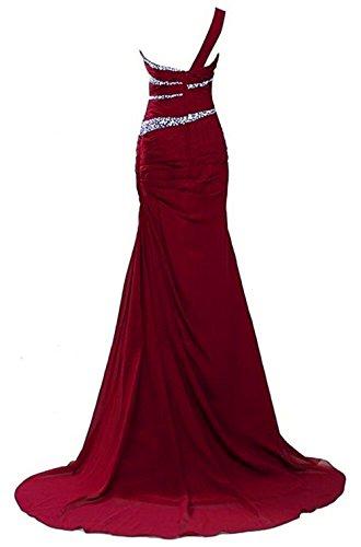 strascico chiffon con abito una sera da Red Emmani a in donna da Wine spallina wTnR0qWq