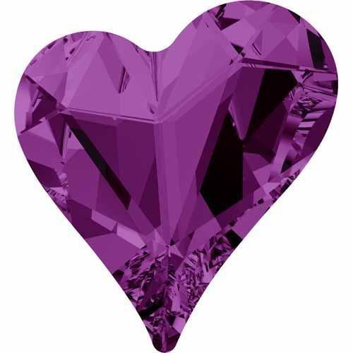 4809 Swarovski Fancy Stones Sweet Heart | Amethyst | 27x25mm - Pack of 1 | Small & Wholesale Packs | Free - Oval Seven Amethyst Bracelet