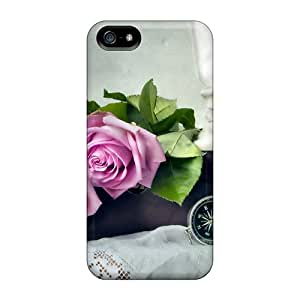 5/5s Scratch-proof Protection Case Cover For Iphone/ Hot Vintage Photo Roses Phone Case