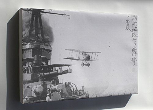 Canvas 16x24; A Gloster Sparrowhawk Aircraft Is Launched By Catapult From The Imperial Japanese Navy Battlecruiser Yamashiro Off Yokosuka, Japan. 1922