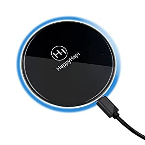 [2018 UPGRADED Christmas Gift] Best Wireless Charger,Auto Safety Qi Wireless Charging Pad for for iPhone 8 or iPhone X,Universal For All Qi-Enabled Devices