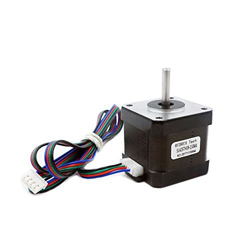 Redrex High Torque Nema 17 Stepper Motor 1.5A 40Ncm/57.1 oz.in for Reprap Prusa i3 3D Printer CNC Machines by Redrex