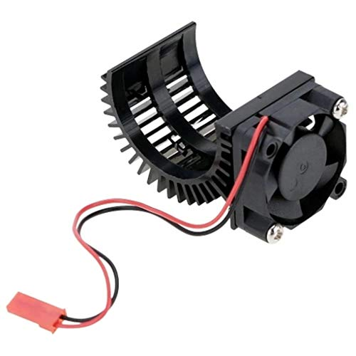 - TANGON Brushless Motor Heatsink Engine Motor Heat Sink with Cooling Fan 540 550 3650 Size Engine Motor Accessories for 1/10 HSP RC Car