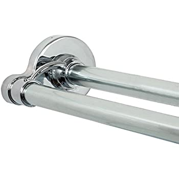Amazon.com: Moen DN2141CH Adjustable Double Curved Shower Rod ...