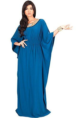 bd5285e5f34d KOH KOH Plus Size Womens Long Kaftan Caftan Flowy Casual Abaya Summer  Evening Formal Party Bohemian Maternity Modest Moroccan Muslim Fancy Gown  Gowns Maxi ...