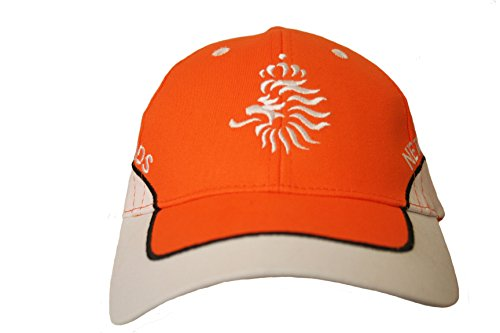 Netherlands Holland Orange White KNVB Logo On Brim FIFA Soccer World Cup Embossed Hat Cap .. New - WC .. High Quality .. New