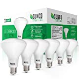 Sunco Lighting 6 Pack BR30 LED Bulb 11W=65W, 4000K Cool White, 850 LM, E26 Base, Dimmable, Indoor Flood Light for Cans - UL & Energy Star