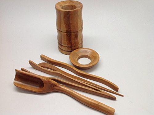Musiccitytea Gong Fu Tea Tools Bamboo Medium Size Tools 6 PCS M001