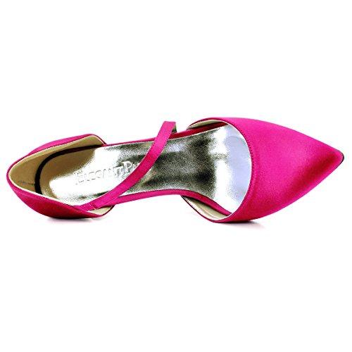 de ElegantPark aguja mujeres punta de de tac HC1711 tacones zapatos las estrecha xUOqAwx0