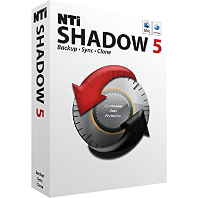 """NTI Shadow 5 for Mac [Holiday Sale!] Newest edition of """"Editor's Choice"""" Award-winning backup software. Continuous Backup, Synchronization. by NTI Corporation"""