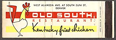 Old South Kentucky Fried Chicken Denver CO matchcover