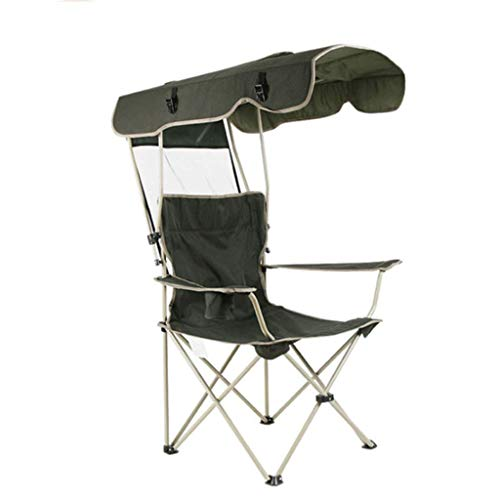Outdoor Sun Protection Oxford Cloth Folding Chair Multi-Function Portable Fishing Beach Lounge Chair with Sun Hat