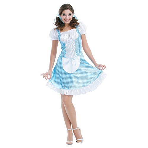 Totally Ghoul Storybook Beauty Costume, One Size Fits (Adult Dorothy Halloween Costume)