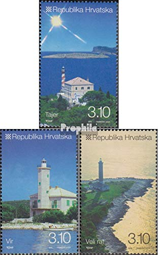 Croatia 961-963 (Complete Issue) 2010 Lighthouses (Stamps for Collectors) Lighthouses