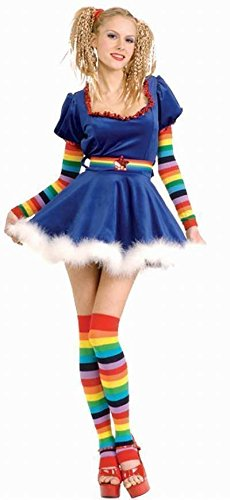 Secret Wishes Sexy Rainbow Girl Costume, Blue, Small ()