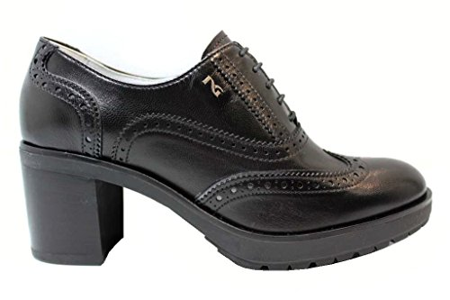 Negro Ingl Estilo P805041D De Guerra NeroGiardin Marina Mujer Zapatos Cordones y de De wc7gWXWpPq