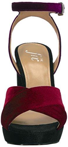 The Fix Women's Gabriela High-Heel Cross-Strap Platform Dress Sandal Wine/Dark Purple/Black Velvet under $60 cheap sale eastbay factory outlet sale online 8LEGMOSh